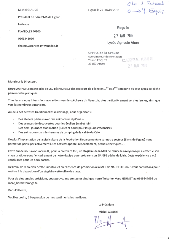 lettre motivation animateur adultes handicapes
