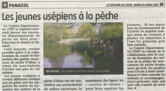 moniteur guide peche animation peche nature panazol