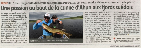 lappland pro nature guide peche suede alban regnoult