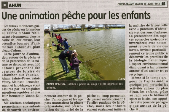 animation pêche nature moniteur guide peche