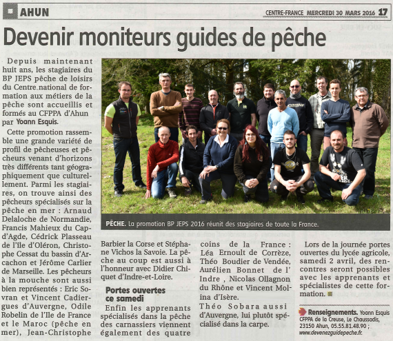 Moniteur guide peche