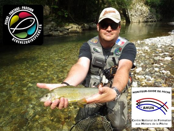 Vincent Cadiergues , moniteur guide de pêche à la mouche en Auvergne