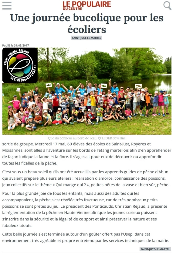 moniteur guide peche animation enfant peche nature environement