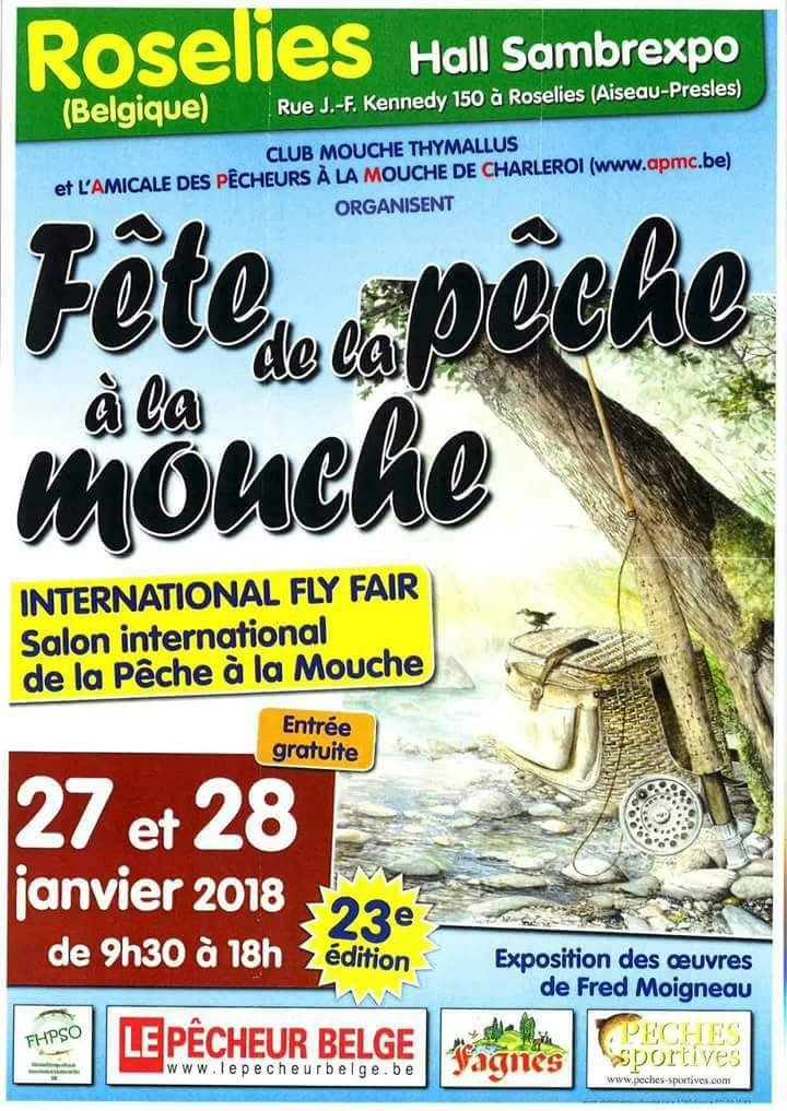 Salon international de pêche à la mouche charleroi en belgique