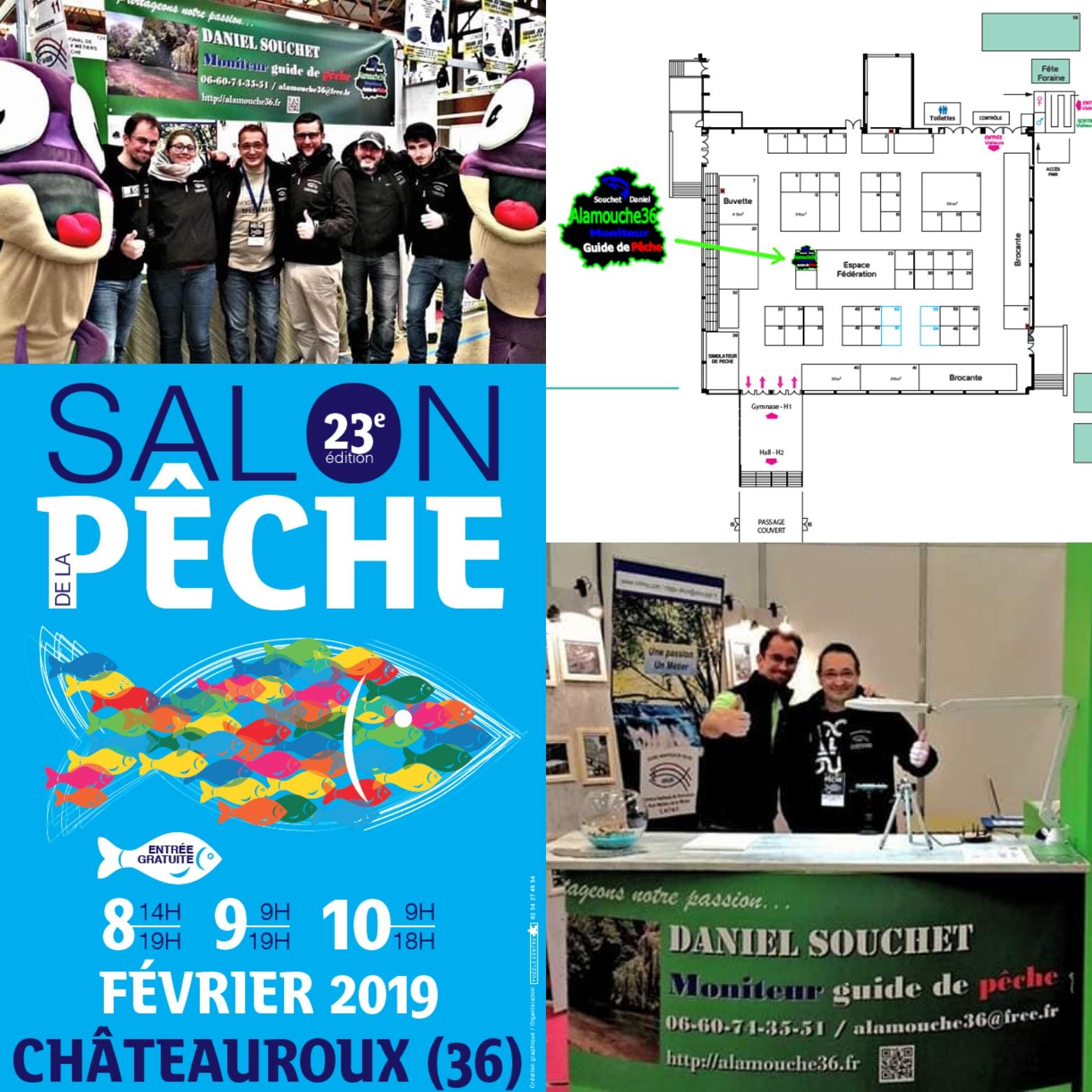 alamouche36 moniteur guide peche salon chateauroux
