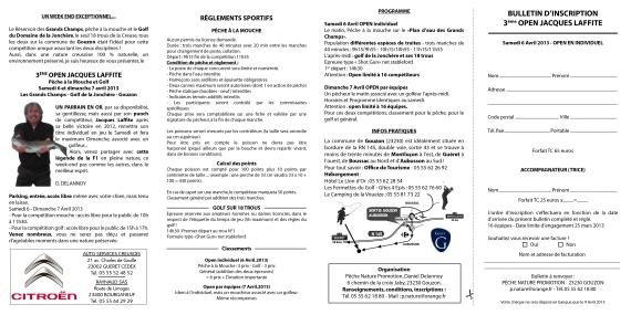 OPEN NATIONAL Jacques LAFFITE  peche mouche glof