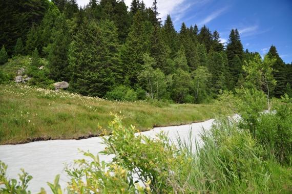 riviere blanche lac de tueda