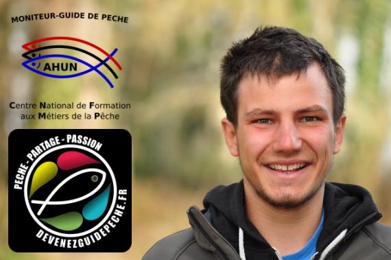 Moniteur guide de pêche Drôme Pablo Vernier