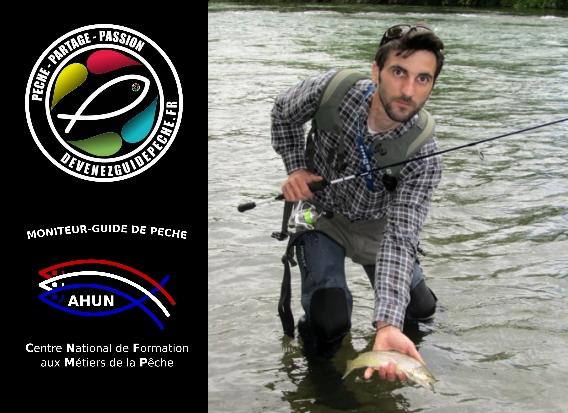 Moniteur guide de pêche Loire Julien Grassot
