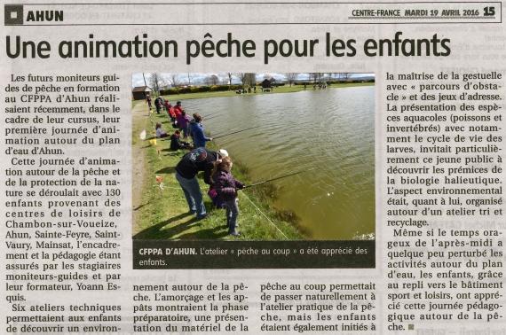 animation pêche nature moniteur guide peche