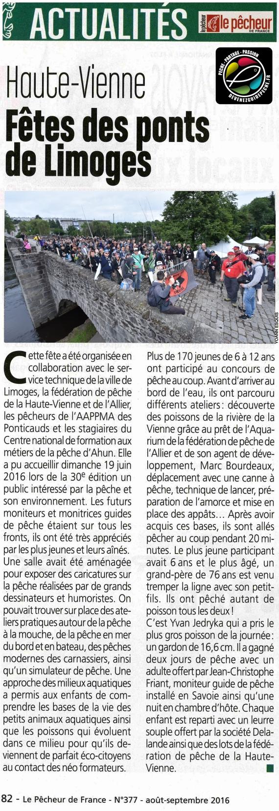 AAPPMA les Ponticauds yoann esquis Fête des Ponts de Limoges