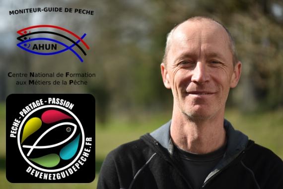 Jean Christophe Barbie, moniteur guide de pêche à la mouche au toc aux appâts naturels